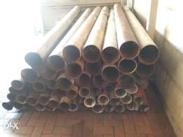 2nd hand Galvanized pipes 3m long 150 mm and 100mm dia