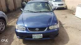 Registered Toyota Corolla, 2001 model.
