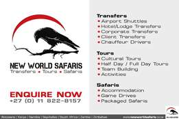 NEW WORLD SAFARIS: Transfers, Tours and Safaris