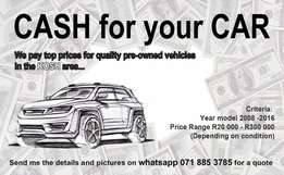 Cash or your Car