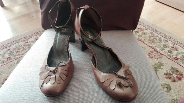 Piękne złote buty szpilki obcas słupek .r.39 Częstochowa