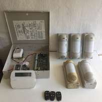 DCS Alarm System with key pad motion sensors and remotes