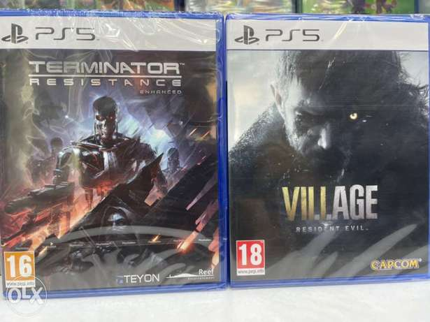 Terminator Resistance and Resident Evil Village Ps5 (New!)