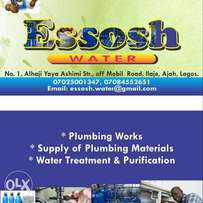 Essosh water Water purification and general plumbing work