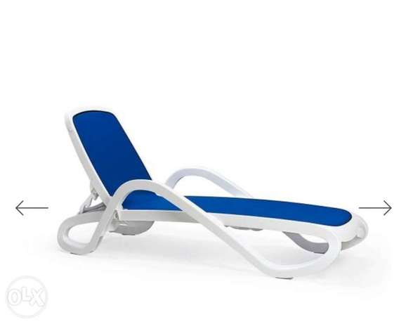 Italian Reclining Sunloungers Made in Italy