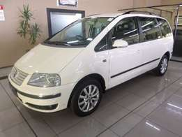 2005 Volkswagen Sharan 1.8T 7 Seater Station Wagon in White