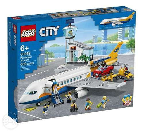 LEGO City Passenger Airplane 60262, with Radar Tower, Airport Truck wi