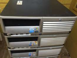 LOT of 10 HP Desktop Computers w/ Monitor, KB and Mouse Complete