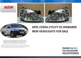 opel corsa utility 2005 onwards New Headlights for sale Price:R650