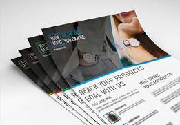 Flyers , brochures and posters design and printing.