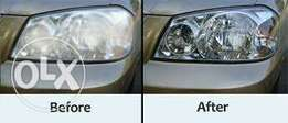 car headlight cleaning machine and cleaning services