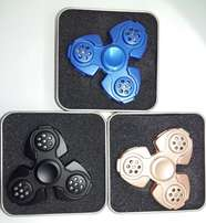 Metal Fidget Spinner with Colorful LED