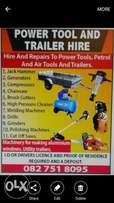 Power tool and trailer hire