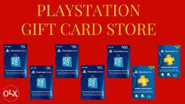 playstaion gift cards, psn subscriptions, wallet top ups