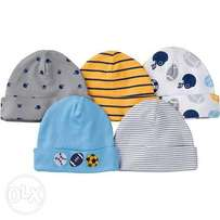 6pack Soft cotton baby cute caps on sale