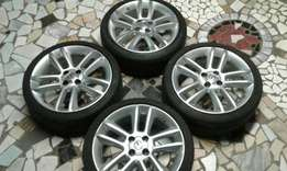 17inch opel corsa d mag rims and tyres for sale or swop