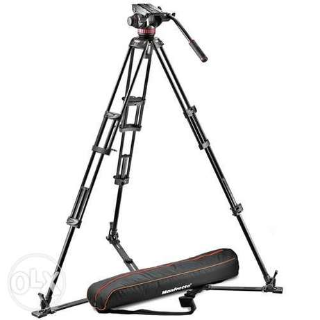 Manfrotto 502A Video Head, 546GB Tripod, and Carry Bag Bundle