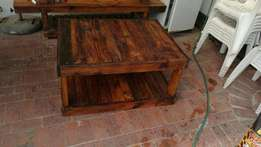 Coffee table made from pallet wood