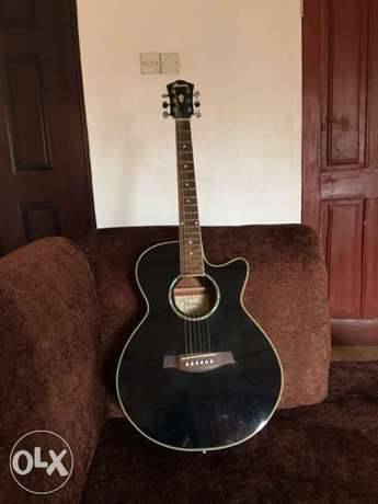Ibanez AEG10BK Acoustic Electric Guitar with free Guitar Textbook Alimosho - image 3