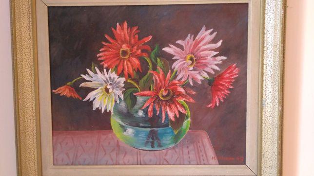 Fantastyczny Kolejny śliczny obraz martwa natura kwiaty wiosenna kompozycja HX75