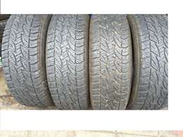 "Tyres x4 265/65/17 tyres ""R4500"" the lot x4 Bridgestone Dueler AT.. st"