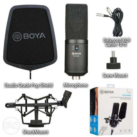 BOYA BY-M1000 Condenser Microphone Podcast Mic Kit