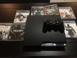 PS3 PlayStation 3 500gb Console, controller & 7 Free games