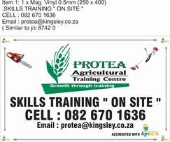 "Agricultural & Horticultural training:-""On site"""