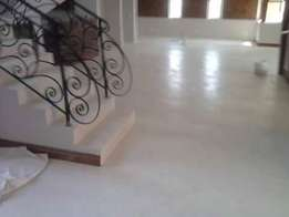 coloured concrete floors and walls