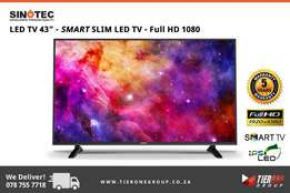"Sinotec 43"" - SMART SLIM LED TV - Full HD 1080 - 5 Years Warranty"