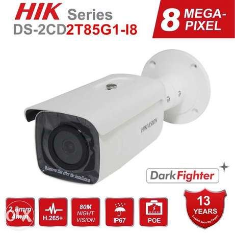 Original Hikvision 8MP 4K POE IP Camera DarkFighter DS-2CD2T85G1-I8 H.