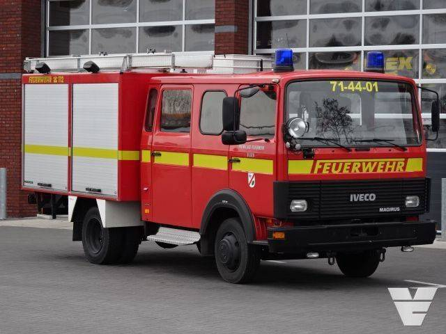 Iveco 75-14 Fire truck, Low Kilometer, Waterpump, Crew cab - 1992