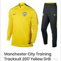 Brand new Manchester City training tracksuit Yellow drill yellow