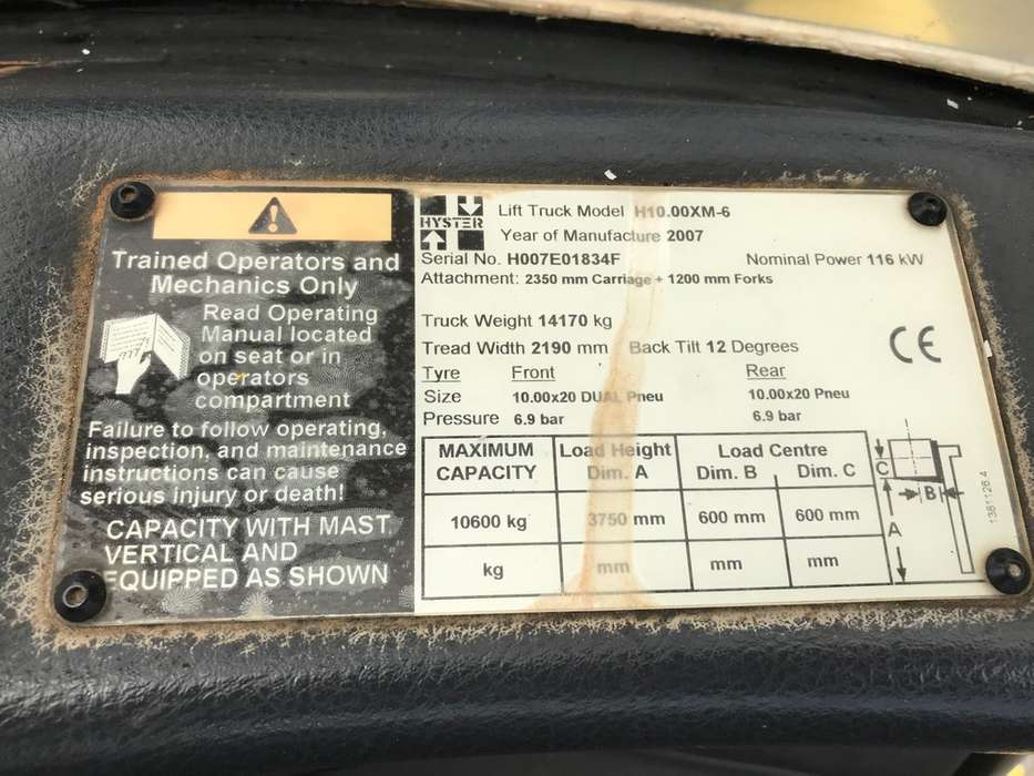 Hyster H10.00XM-6 1600 hrs only! - 2007 - image 11