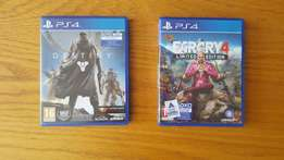 Farcry 4 and destiny for ps4