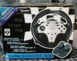PS2 steering wheel with foot control.