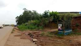 Two plots of lands for sale at Ifo along the road side with C of O
