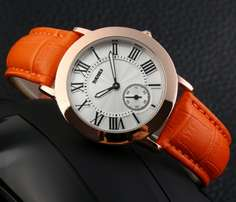 Genuine leather ,stainless steel watches