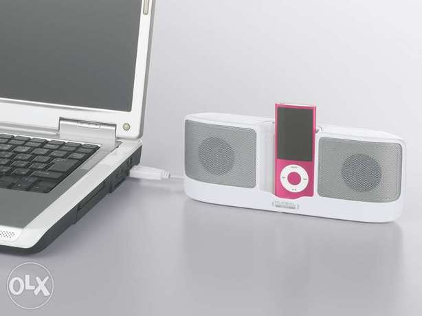 iBuffalo Speakers for iPod stereo (White) Japan - FREE DELIVERY
