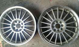 17inch alpine mag rims for sale 2 only