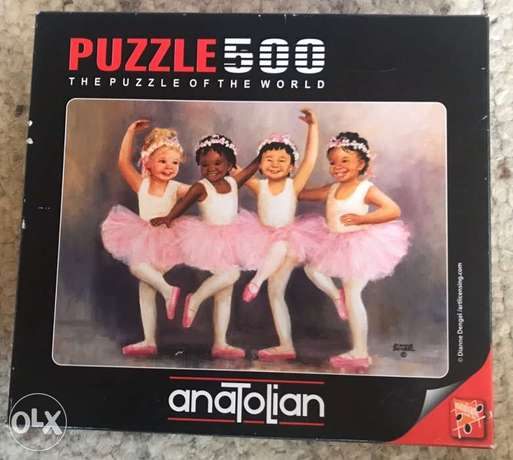 the puzzle of the world comes with 500 pcs.