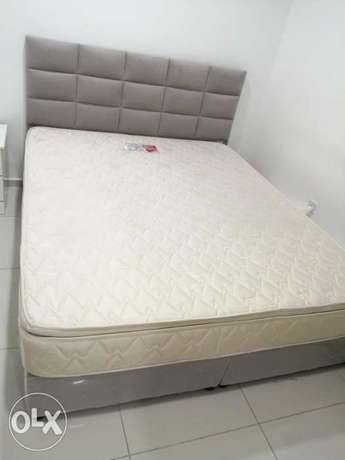 King size bed with matress and 3 door cabinet