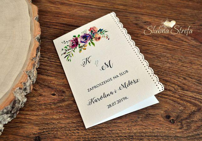 Zaproszenie Na ślub Zawiadomienie ślubne Zaproszenie Ozdobne