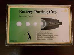 Battery putting cup