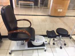 pedicure chair with stool for sale
