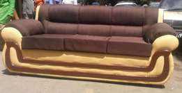 7 Seater Leather&Fabric mix&march Sofasets