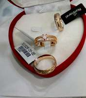 Exotic Brand New Romania Gold Engagement/Wedding Ring 02- In All Sizes