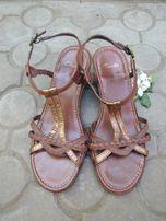 фирменные кожаные босоножки Clarks р.38 евро 5D (25 см) b0d055ecd2d09