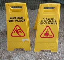 Caution signs or warning signs
