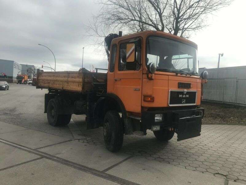 MAN 16.192.292.tipper 4x4 Ger Truck.ual.in Top - 1986